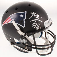 Jakobi Meyers Signed New England Patriots Full-Size Matte Black Helmet (JSA COA) at PristineAuction.com