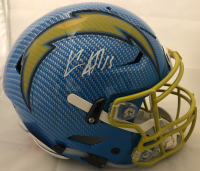 Keenan Allen Signed Los Angeles Chargers Full-Size Authentic On-Field Hydro Dipped SpeedFlex Helmet (Beckett COA) at PristineAuction.com