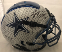 Leighton Vander Esch Signed Dallas Cowboys Full-Size Authentic On-Field Hydro Dipped F7 Helmet (Beckett COA) at PristineAuction.com