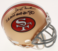 "Jerry Rice Signed San Francisco 49ers Mini-Helmet Inscribed ""S.B. XXIII MVP"" (JSA Hologram & Rice Hologram) at PristineAuction.com"