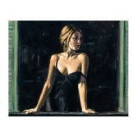 """Fabian Perez Signed """"Balcony Buenos Aires V"""" Hand Textured Limited Edition 13x16 Giclee on Board at PristineAuction.com"""