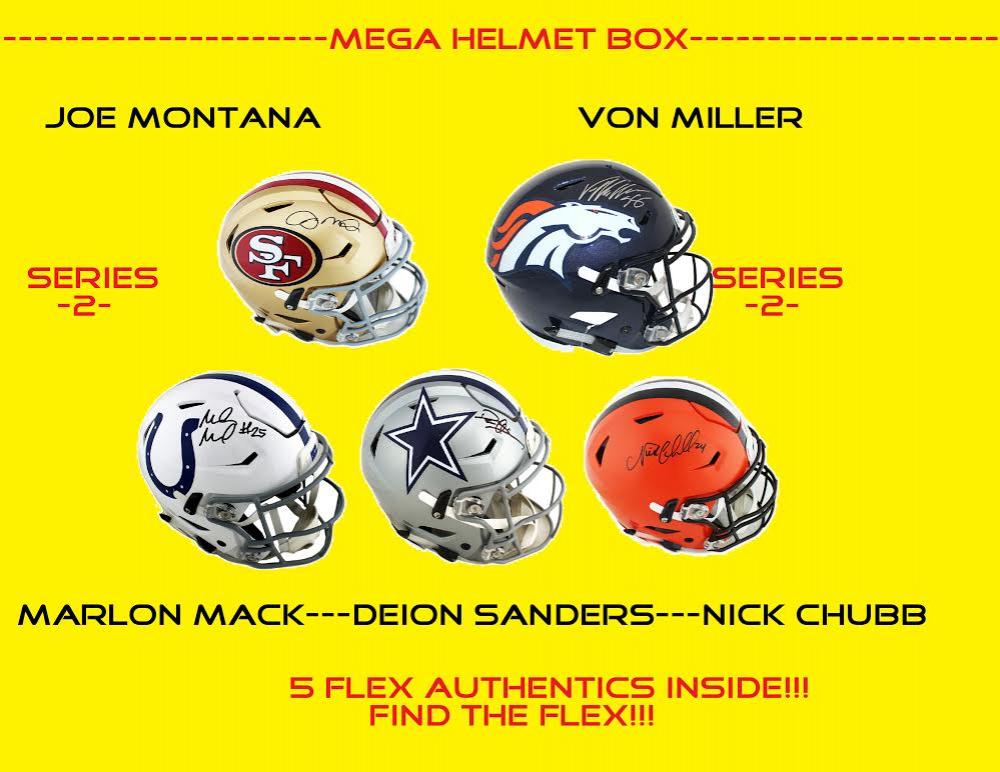 Mega Full-Size Helmet Mystery Box - Autographed Helmet Series 3 (Find the Flex!) at PristineAuction.com