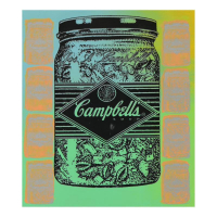 "Steve Kaufman Signed ""Campbell's Soup"" Hand Painted Limited Edition 11x15 Silkscreen on Canvas #13/50 at PristineAuction.com"