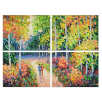 "Alexander Antanenka Signed ""Wonderful You"" 32x24 Original Oil Quadriptych Painting on Canvas at PristineAuction.com"