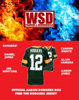 WSD Official Aaron Rodgers Box Football Jersey Mystery Box (Find the Rodgers Jersey!) at PristineAuction.com