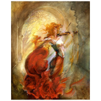 "Lena Sotskova Signed ""Firebird"" 20x16 Original Oil Painting on Canvas at PristineAuction.com"