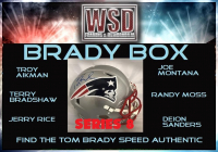 WSD Brady Box Full-Size Helmet Mystery Box - (Find the Tom Brady!) at PristineAuction.com