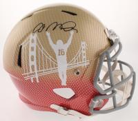 Joe Montana Signed San Francisco 49ers Full-Size Hydro-Dipped Speed Helmet (JSA COA) at PristineAuction.com