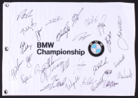 BMW Championship Golf Pin Flag Signed by (29) with Justin Rose, Bryon DeChambeau, Justin Thomas, Ryan Palmer, Patrick Reed (JSA ALOA) at PristineAuction.com