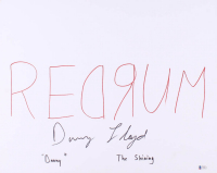 "Danny Lloyd Signed ""Redrum"" 16x20 Canvas Inscribed ""Danny"" & ""The Shining"" (Beckett COA) at PristineAuction.com"