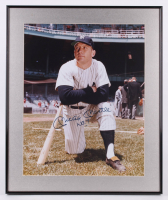 "Mickey Mantle Signed New York Yankees 20.25x24.25 Custom Framed Photo Display Inscribed ""No. 7"" (Beckett LOA) at PristineAuction.com"