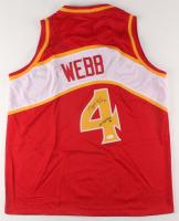 """Spud Webb Signed Jersey Inscribed """"Slam Dunk Champ 86"""" (JSA COA) at PristineAuction.com"""