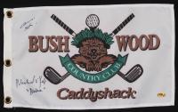 "John F. Barmon Jr. & Michael O'Keefe Signed 12x 21 Caddyshack Gopher Logo Bushwood Flag Inscribed ""Noonan"" (MAB Hologram) at PristineAuction.com"