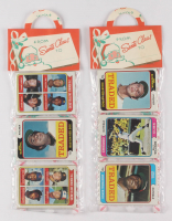 Lot of (2) 1974 Topps Baseball Unopened Christmas Rack Packs with (12) Cards Each With Juan Marichal and Billy Williams Showing on Top at PristineAuction.com
