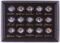 Baseball Legends Set of (15) 24K Gold Plated & Colorized State Quarters with Babe Ruth, Ted Williams, Jackie Robinson, Ty Cobb, Lou Gehrig at PristineAuction.com