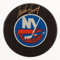 Mike Bossy Signed New York Islanders Logo Hockey Puck (JSA COA) at PristineAuction.com
