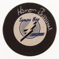 Manon Rheaume Signed Tampa Bay Lightning Logo Hockey Puck (JSA COA) at PristineAuction.com