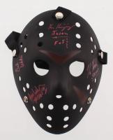 """Friday the 13th"" Mask Signed by (4) with Kane Hodder, Ari Lehman, Ken Kirzinger & Ted White Inscribed ""Jason"", ""Jason FOT"" & ""Jason 1"" (JSA COA) at PristineAuction.com"