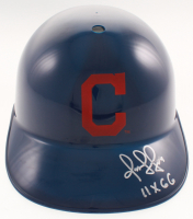"Omar Vizquel Signed Cleveland Indians Full-Size Batting Helmet Inscribed ""11X GG"" (JSA COA) at PristineAuction.com"