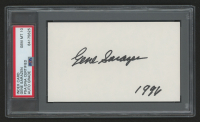"Gene Sarazen Signed 3x5 Index Card Inscribed ""1996"" (PSA Encapsulated) at PristineAuction.com"