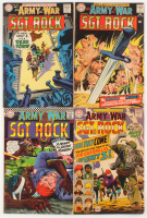 """Lot of (4) """"Sgt Rock"""" DC Comic Books with April 1967 #179, February 1968 #189, June 1968 #194, July 1968 #195 at PristineAuction.com"""