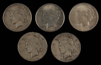 Lot of (5) Peace Silver Dollars with 1922, (2) 1922-S 1923-S, & 1926-D at PristineAuction.com