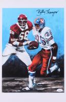 Billy Thompson Signed Denver Broncos 11x17 Print (JSA COA) at PristineAuction.com