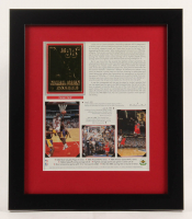 Michael Jordan Chicago Bulls 13x15 Custom Framed Photo Display with 23 KT Gold Card at PristineAuction.com