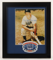 Duke Snider Signed Brooklyn Dodgers 13x15 Custom Framed Photo Display with Patch (PSA COA) at PristineAuction.com
