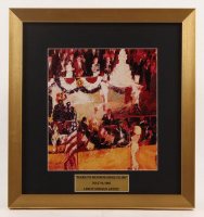 "LeRoy Neiman ""Marilyn Monroe Sings to JFK"" 16x17 Custom Framed Print Display at PristineAuction.com"