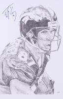 """Floyd Little Signed Denver Broncos 11x17 Print Inscribed """"HOF '77"""" (JSA COA) at PristineAuction.com"""