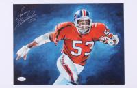"Randy Gradishar Signed Denver Broncos 11x17 Print Inscribed ""HOF '77"" (JSA COA) at PristineAuction.com"