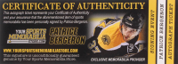 Patrice Bergeron Signed Boston Bruins 34x43.5 Print on Canvas (Bergeron COA) at PristineAuction.com