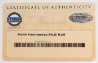 Keith Hernandez Signed OML Baseball with Display Case (Steiner COA & MLB Hologram) at PristineAuction.com