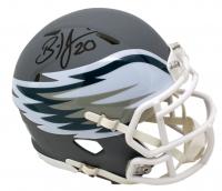 Brian Dawkins Signed Philadelphia Eagles AMP Mini Speed Helmet (JSA COA) at PristineAuction.com