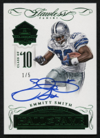 2015 Panini Flawless Hall of Fame Autographs Emerald #HOFES Emmitt Smith #1/5 at PristineAuction.com