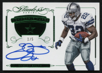 2015 Panini Flawless Memorable Marks Emerald Autograph #MMES Emmitt Smith #1/5 at PristineAuction.com