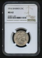 1916 25¢ Barber Quarter (NGC MS 62) at PristineAuction.com