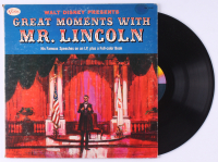 "Walt Disney's ""Great Moments with Mr. Lincoln"" Vinyl Record Album at PristineAuction.com"