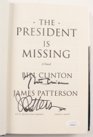 """Bill Clinton & James Patterson Signed """"The President Is Missing"""" Hard Cover Book (JSA COA) at PristineAuction.com"""