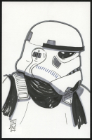 """Tom Hodges - Stormtrooper - """"Star Wars"""" - Signed ORIGINAL 5.5"""" x 8.5"""" Drawing on Paper (1/1) at PristineAuction.com"""