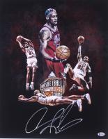 "Dennis Rodman Signed Chicago Bulls ""Hall of Fame"" 16x20 Photo (Beckett COA) at PristineAuction.com"