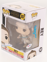 Calley Fleming Signed Star Wars #307 Rey Funko Pop! Vinyl Figure (PSA Hologram) at PristineAuction.com