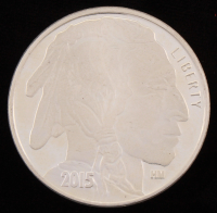 2015 Indian Head .999 One Troy Ounce Fine Silver Bullion Round at PristineAuction.com