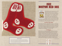 Official Cooperstown Collection 1932 Red Sox Patch Card with 9x12 Scorecard at PristineAuction.com