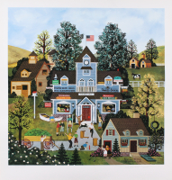 """Jane Wooster Scott Signed """"Boys Will Be Boys"""" Limited Edition 20x21 Lithograph (Imperfect) at PristineAuction.com"""