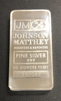 10 oz Johnson Matthey Silver Bullion Bar at PristineAuction.com