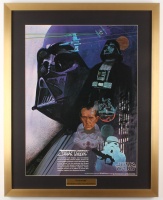 Vintage 1977 Coca Cola Star Wars 24x30 Custom Framed Poster Display at PristineAuction.com