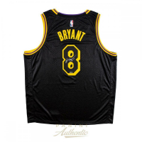 Kobe Bryant Signed Los Angeles Lakers City Edition Black Jersey (Panini COA) at PristineAuction.com