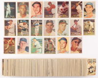 1957 Topps Complete Set of (407) Baseball Cards with #2 Yogi Berra, #20 Hank Aaron, #76 Roberto Clemente, #302 Sandy Koufax DP, #35 Frank Robinson RC at PristineAuction.com